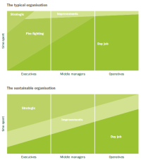 typical Vs sustainable organization